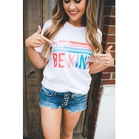 Be Kind Graphic Tee (White)