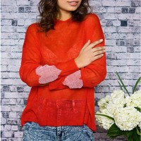 Heart's On Your Sleeve Sweater Top