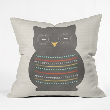 Allyson Johnson Native Owl 2 Throw Pillow