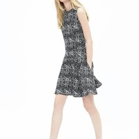 Banana Republic Womens Tweed Fit And Flare Dress