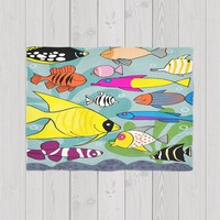 Colorful crowded fish
