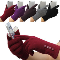 Solid Gloves & Mittens For Women