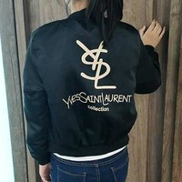 YSL Yves Saint laurent Fashion Long Sleeve Cardigan Jacket Coat