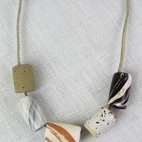 """Pursuit of Happiness"" Ceramic Necklace"