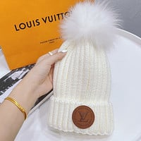 Louis Vuitton LV Autumn and Winter Flanged Wool Knitted Beanie Hat