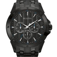 Bulova Mens Classic Collection Watch - Black Out - Day/Date Subdials