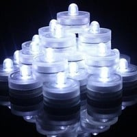 Zitrades 12PCS Submersible Waterproof White Wedding LED Tea Candle Light Battery OperatedLED Lights (Color White) [7982968583]