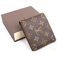 LOUIS VUITTON BB WOMEN'S MEN'S LEATHER WALLET NO BOX