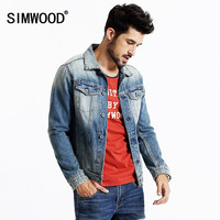 SIMWOOD 2016 New Autumn Winter Denim jacket Men Coats  Fashion Causal  100% cotton NJ6502