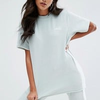 Ellesse Relaxed Velour T-Shirt With Embroidered Logo Co-Ord at asos.com