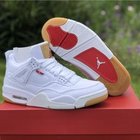 Air Jordan 4 Retro Levis NRG Rice White