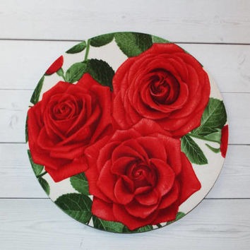 Roses Mouse Pad mousepad / Mat - round or rectangle -  Computer Accessories Geekery Custom Desk Coworker Gifts Office Gifts floral