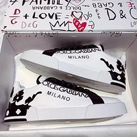 DOLCE & GABBANA Fashionable and recreational small white shoe-15
