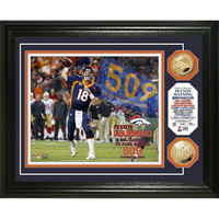 Peyton Manning ?TD Record? Gold Coin Photo Mint