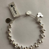 Disney Alex and Ani Minnie Icons Wrap Silver Finish New with Tags