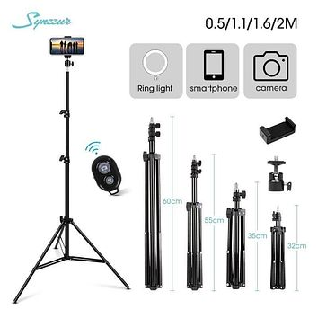 0.5/1.1/1.6/2M Adjustable Selfie Stick Tripod 1/4 Screw Tripod For Phone Camera Ring Light Stand Universal Stand Phone Holder fall 2021