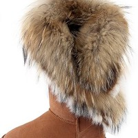 Aphnus Womens Boots Winter Boots Fur Snow Boots Cow Leather Snow Boot Brown US5.5