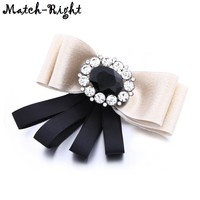 Ribbon Pins and Brooches for Women Large Bow Brooch pin  Rhinestone Collar Pin for Women's Clothing Coat Skirt Shirt KK143