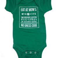 Eat At Mom's Baby Onesuit {Eat Your Broccoli}