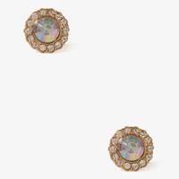 Scalloped Circle Studs | FOREVER 21 - 1019572684