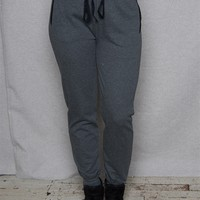 Active USA Basics French Terry Joggers With Side Pockets - Charcoal