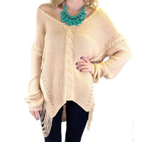 Calico Crest Beige Knit Sweater