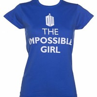Ladies Blue The Impossible Girl Doctor Who T-Shirt : TruffleShuffle.com