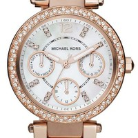 Michael Kors Women's MK5616 Parker Rose Gold-Tone Stainless Steel Watch