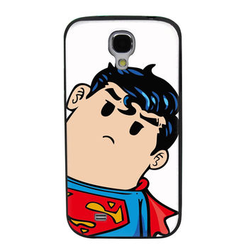 Tilted Animated Superman TPU Soft Shell Jelly Silicone Case for Samsung Galaxy S4