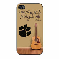 Ed Sheeran Guitar And Song Quotes iPhone 4 Case