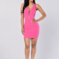 Pretty Woman Dress - Fuchsia