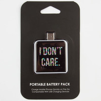 I Don't Care Battery Pack Black Combo One Size For Women 24141714901