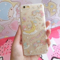 For iPhone 6 plus Kawaii Binary Star Cases