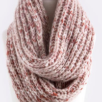pink it how it is knit infinity scarf