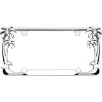 Walmart: Cruiser Accessories, Model #19003 Palm Tree License Plate Frame, Chrome
