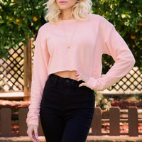 Day Tripper Crop Top - Blush
