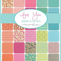 """For You Layer Cake by Zen Chic for Moda Fabrics, 10"""" squares"""
