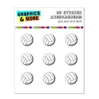 Graphics and More Volleyball Ball Home Button Stickers Fits Apple iPhone 4/4S/5/5C/5S, iPad, iPod Touch - Non-Retail Packaging - Clear