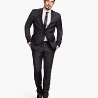 H&M - Suit Pants - Black - Men