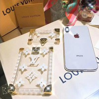 LV Louis Vuitton New iPhone Case Cover iPhone 6/7/8/X Jelly Transparent Phone Case F/A