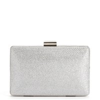 Silver Shimmer Box Clutch