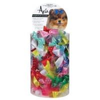 Satin Dog Bows Canister - Dot Ribbon With Tulle