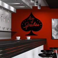 Vinyl Wall Decal Sticker Ace of Spades #OS_MB1189