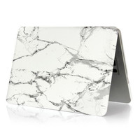 Marble Texture Matte Case Cover For Macbook Air Pro Retina 11 12 13 15 inch Protector Skin