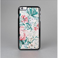 The Coral & Blue Grunge Watercolor Floral Skin-Sert Case for the Apple iPhone 6 Plus