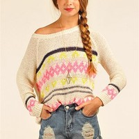 Carrie Cozy Sweater - Beige at Necessary Clothing
