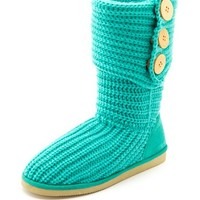 Fold-Over Sweater Knit Boot: Charlotte Russe