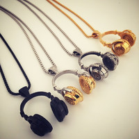 New Arrival Gift Stylish Shiny Jewelry Headphones Hip-hop Club Necklace [8979467012]