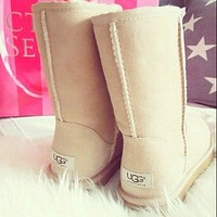 UGG new hot face bowknot fringed low-top mink fur women boots Shoes-11