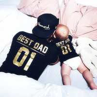 Best DAD Best SON father and son matching outfit, father and son clothes, Daddy baby clothes, matching family shirts